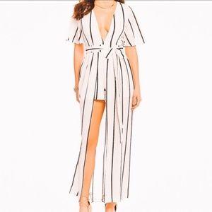Gianni Bini Striped Maxi Skirt Romper